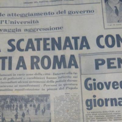 Valle Giulia l'Unità marzo 1968